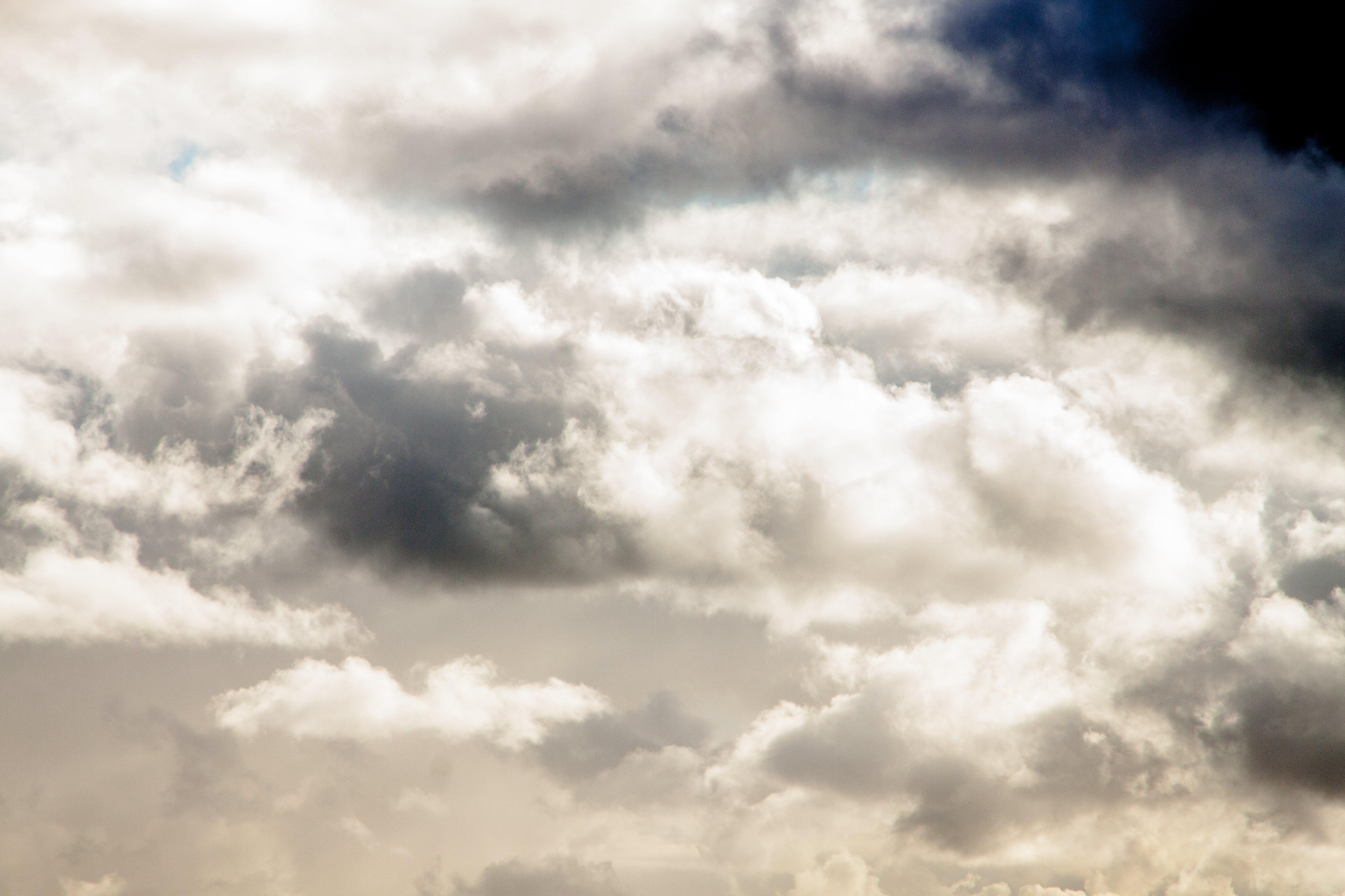 White Columbus Clouds