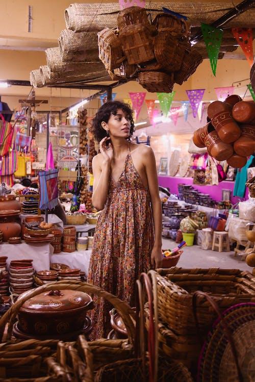 Free stock photo of adult, bazaar, beautiful woman