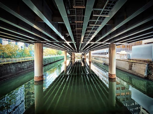 Free stock photo of canal, chiyoda city, concrete
