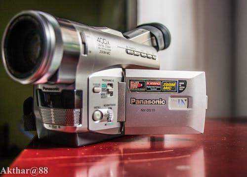 Foto stok gratis kamera video panasonic