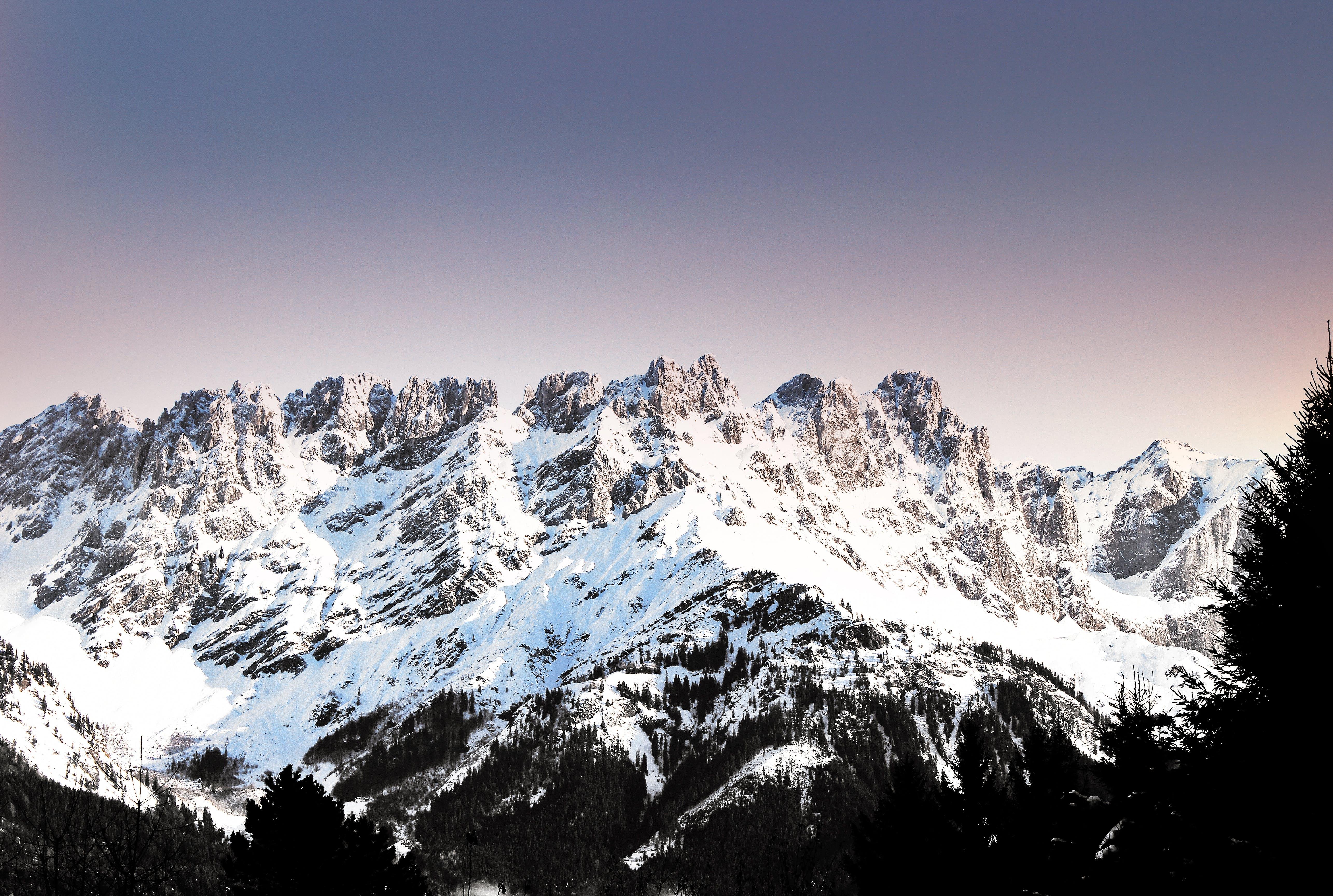 Mountain during Winter