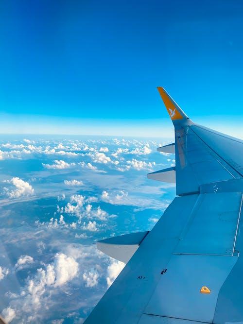 Photo of the Sky Through an Airplane Window