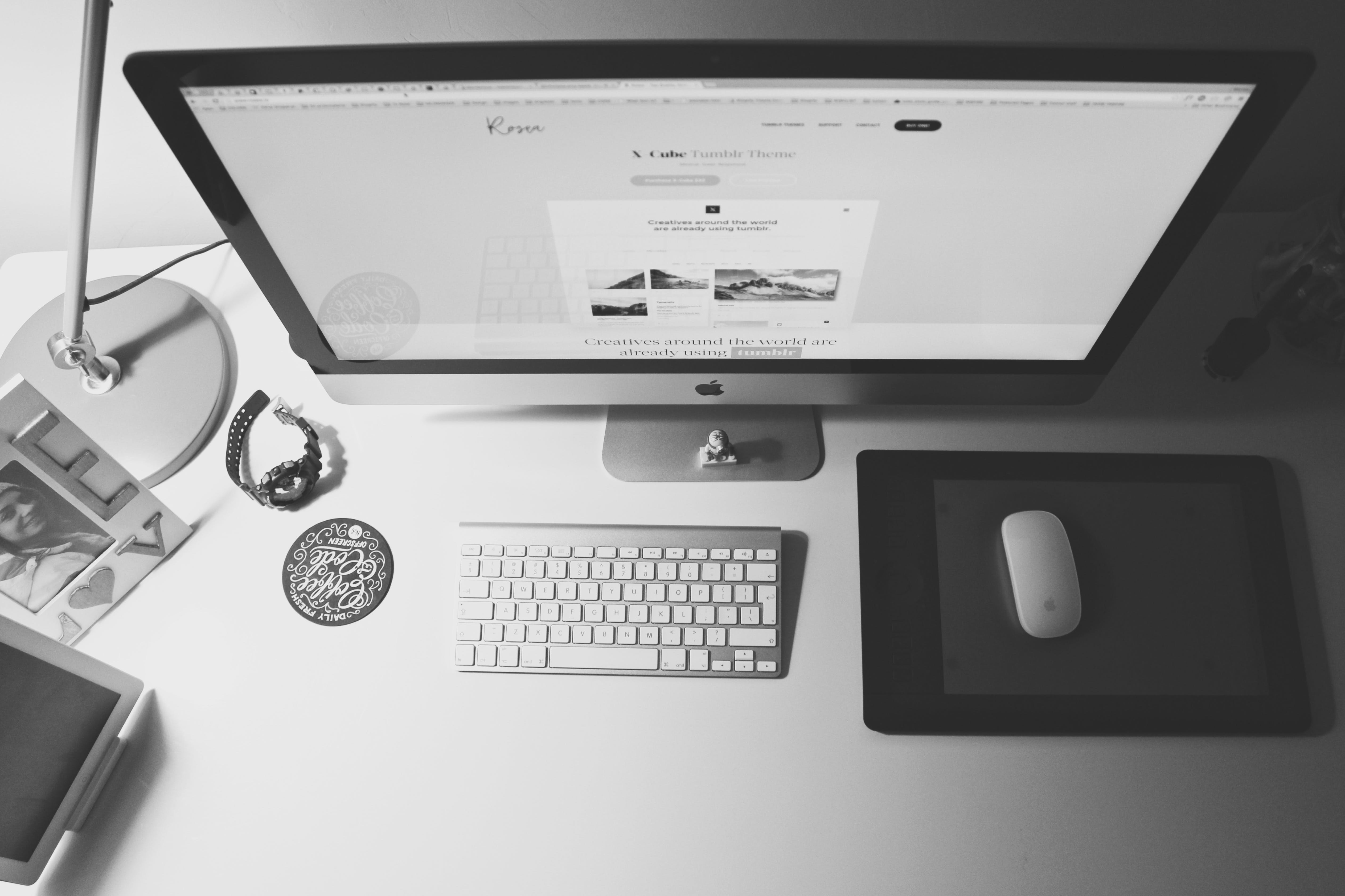 Free stock photo of night, desk, clean, workspace