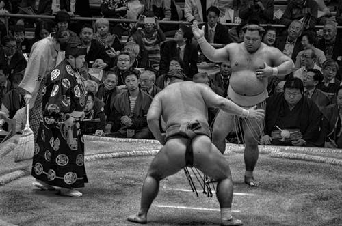 Fotobanka sbezplatnými fotkami na tému čierna a biela, dav ľudí, diváci, Japonsko