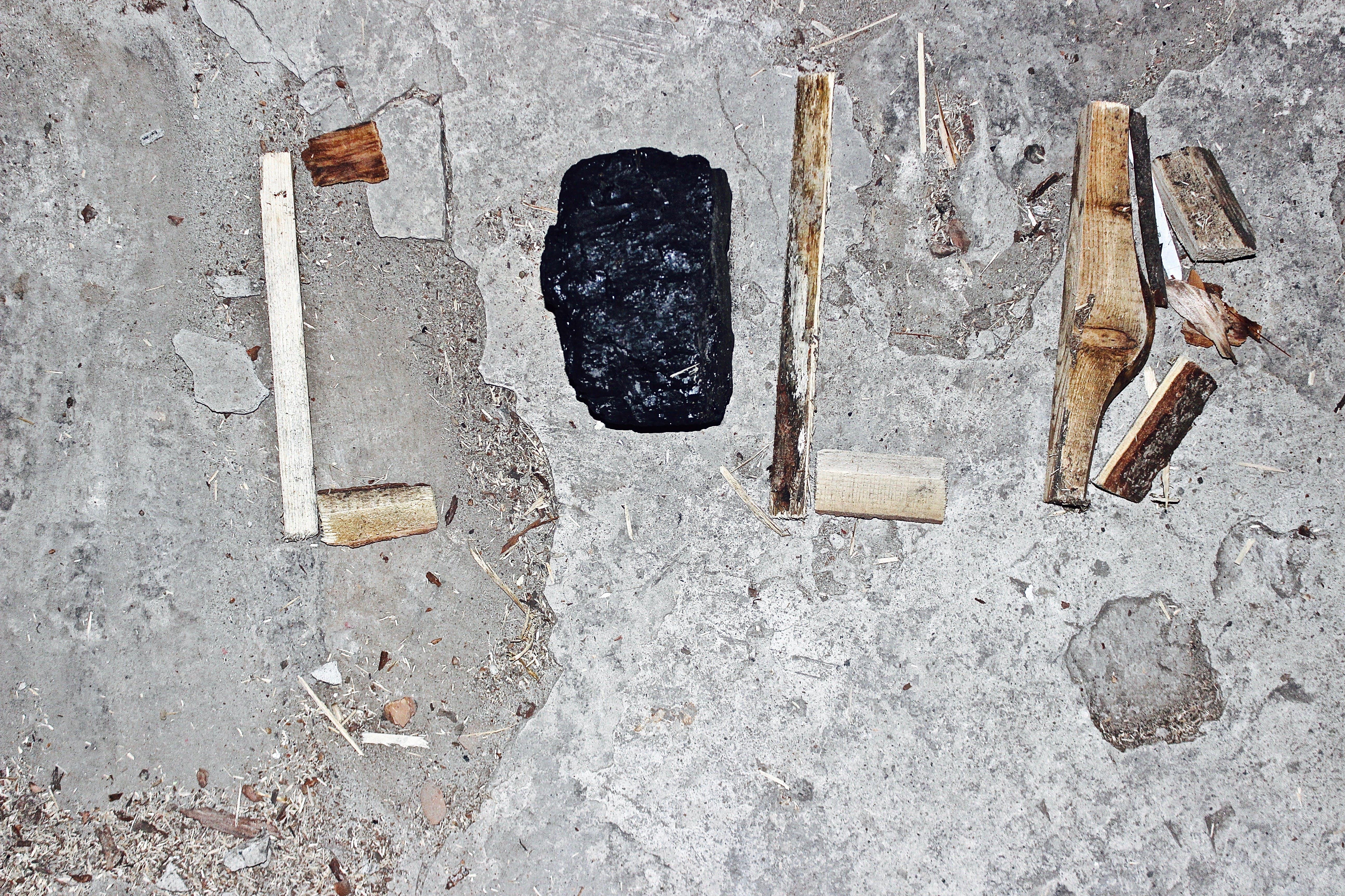 Free stock photo of cold, wood, coal, makro