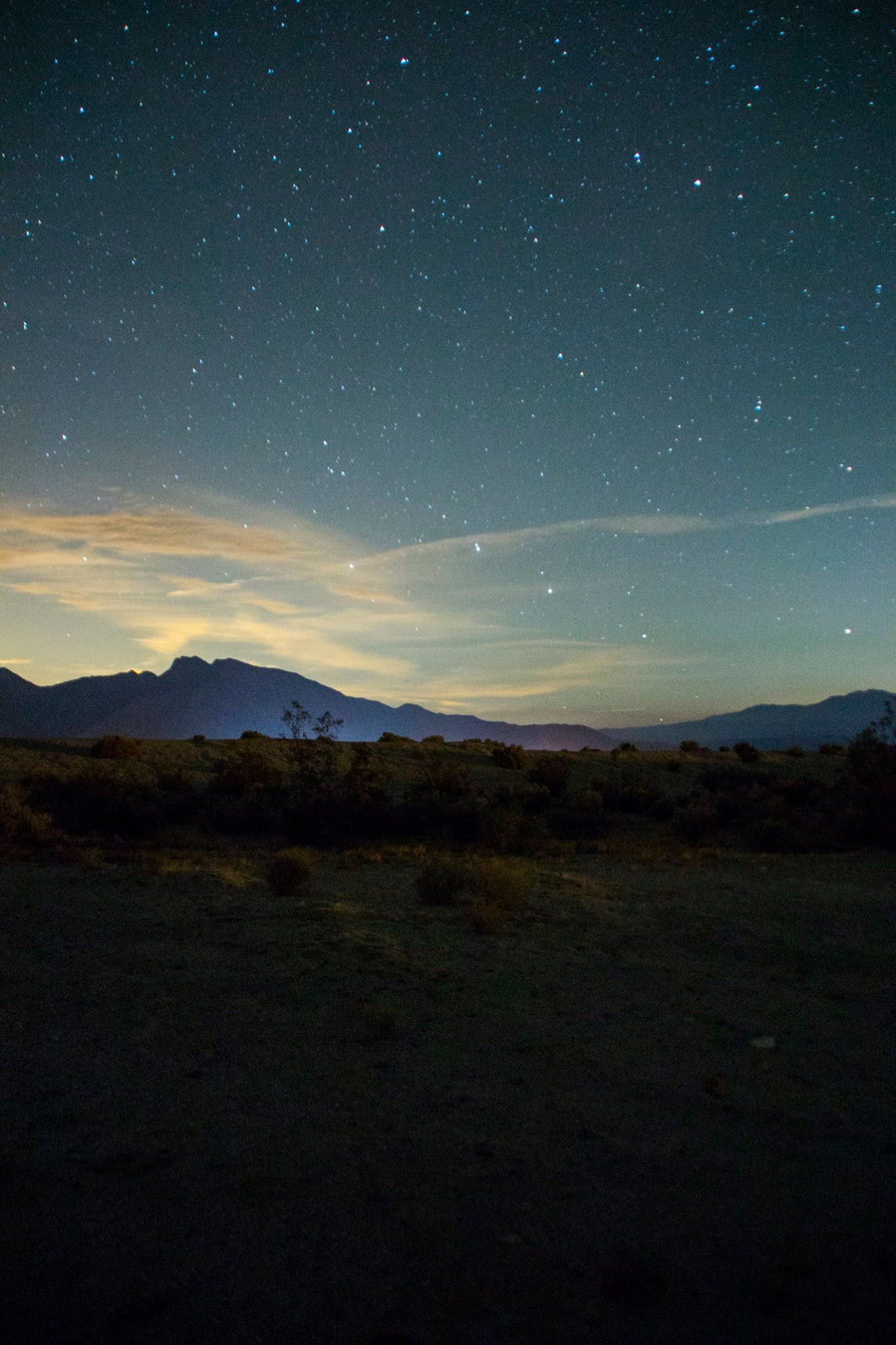 Free stock photo of california, desert, mountains, night