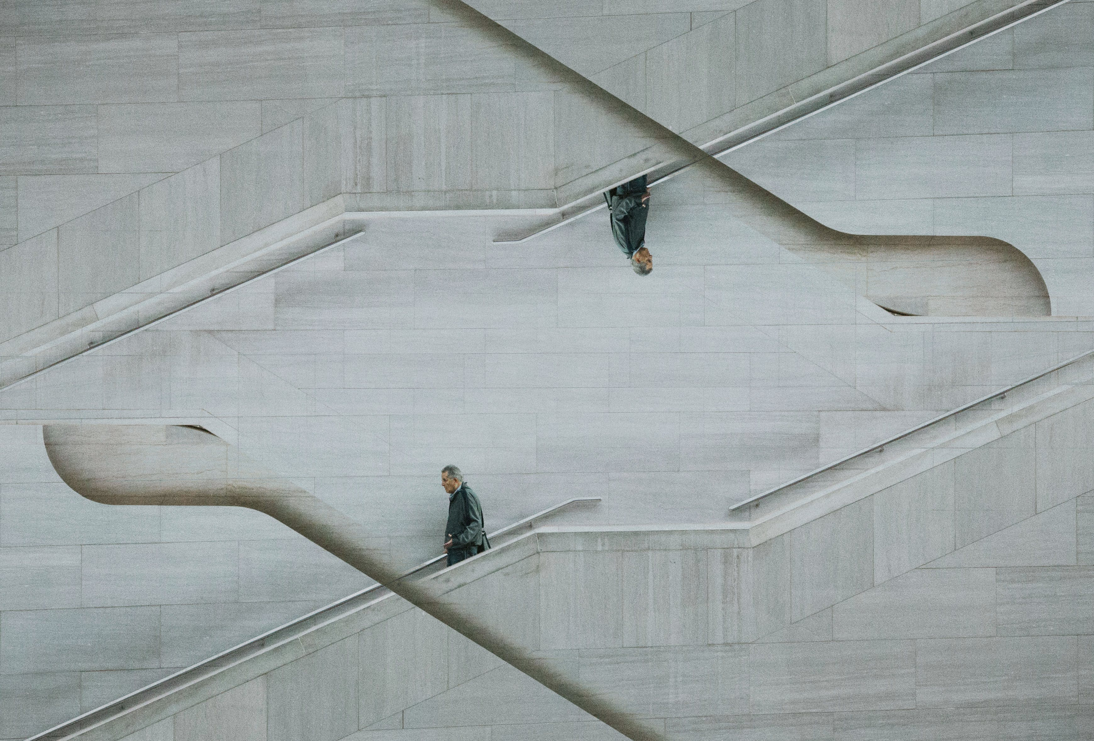 Optical Illusion Photo of Man on Stairs