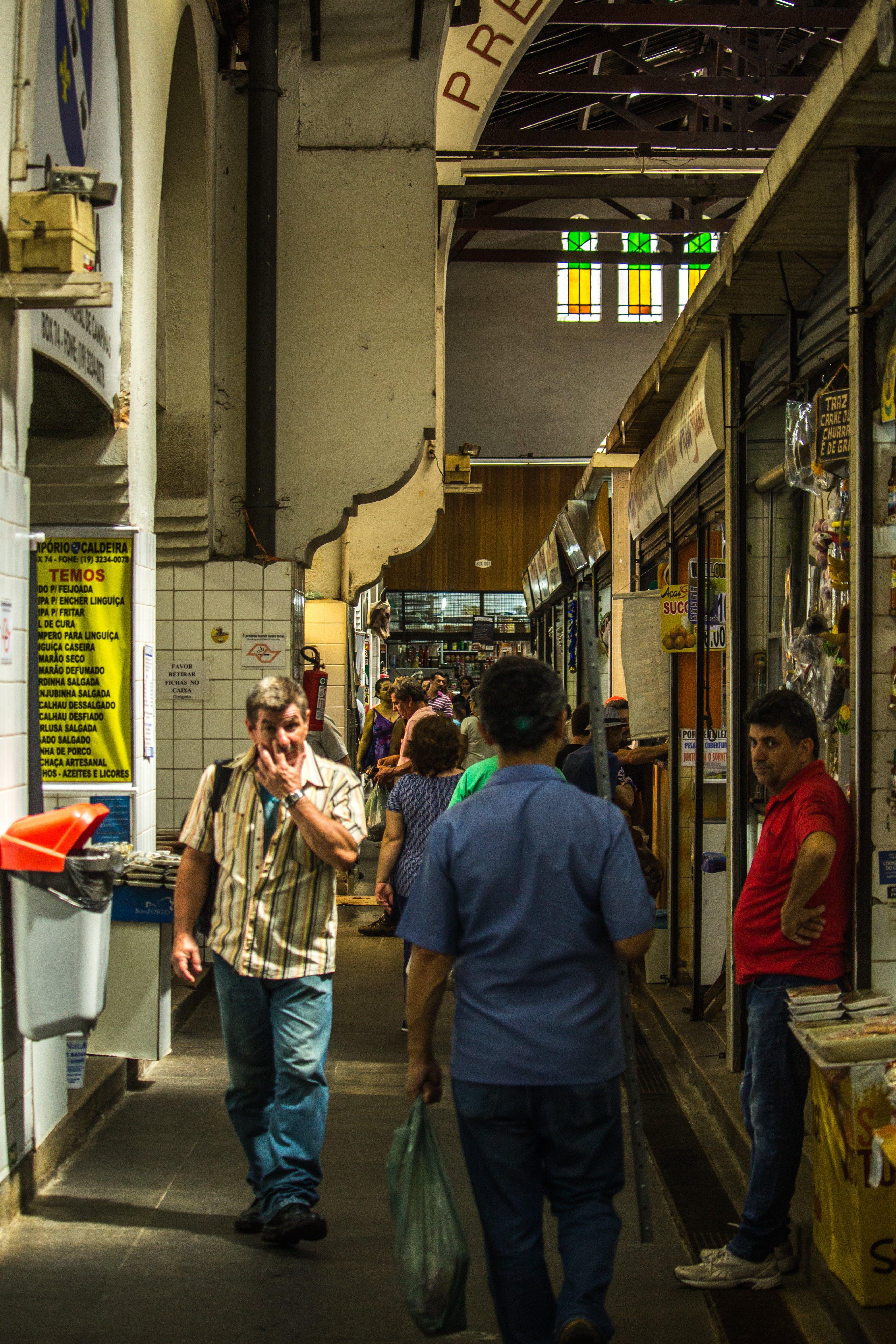 Free stock photo of city, people, street, bananas