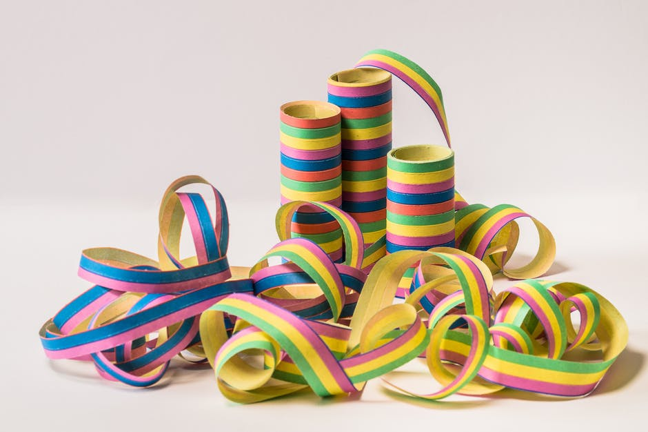 Assorted color ribbon with spool
