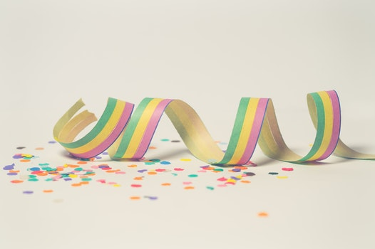 Pink, Green, and Yellow Ribbon Illustration