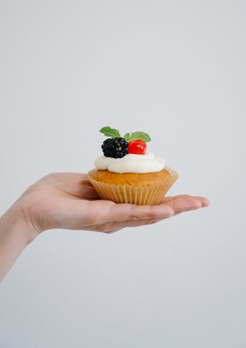 Cupcake With Strawberry on Top