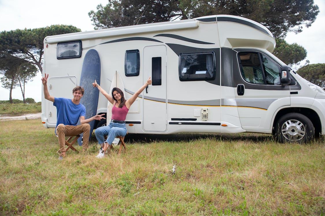 Free stock photo of auto trip, camp, camper