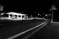 light, black-and-white, road