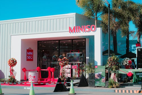 An Opening of a Miniso Shop