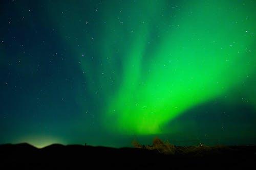 Green Aurora Lights during Night Time