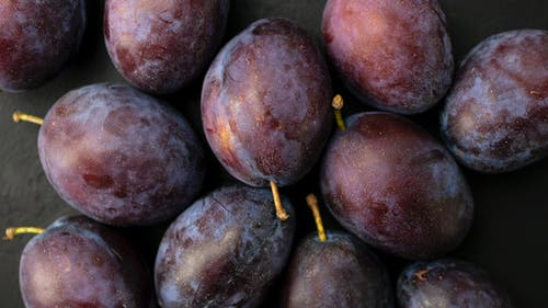 Close-Up Photo of Ripe Plums