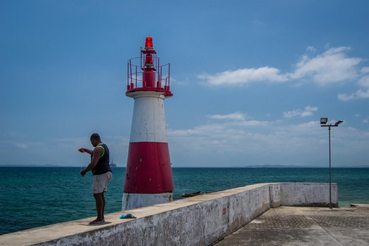 Free stock photo of fishing, people, lighthouse, salvador