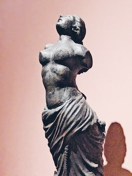 Topless Woman Without Arms Concrete Statue