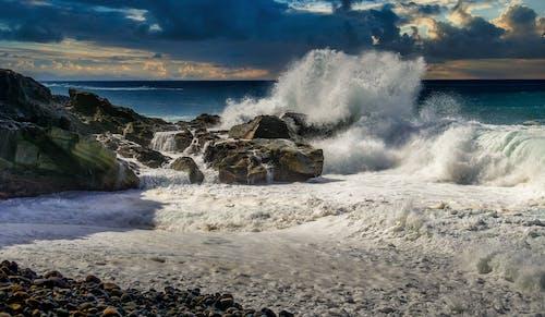 물을 튀기다, 바다, 바다 거품의 무료 스톡 사진