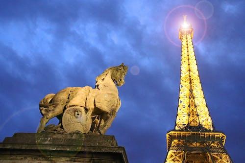 Ilmainen kuvapankkikuva tunnisteilla arkkitehtuuri, auringonlasku, eiffel-torni, justifyyourlove