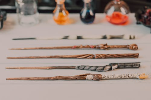 Assorted Magic Wands on Flat Surface