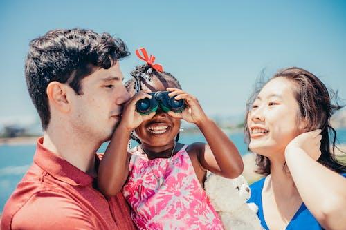 Interracial Family Enjoying the Outdoors