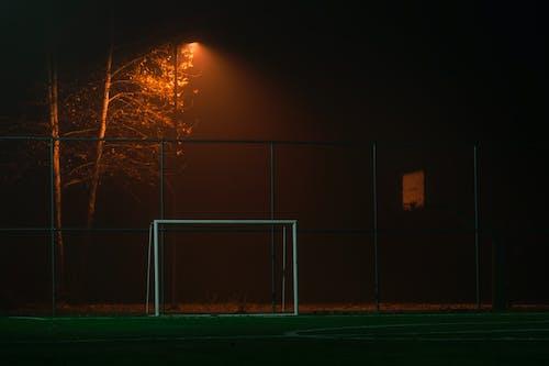 Gratis lagerfoto af bane, fodboldbane, fodboldmål, lys