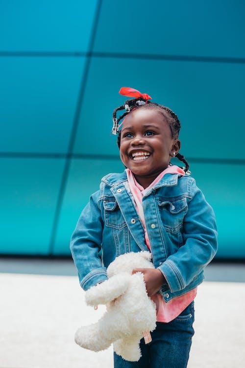 Imagine de stoc gratuită din afro-american, copil, denim