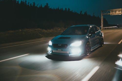 Car Running on Highway