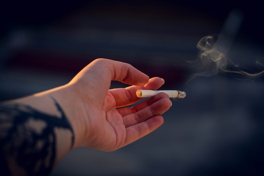 Close-Up Photography of a Person Holding Cigarette