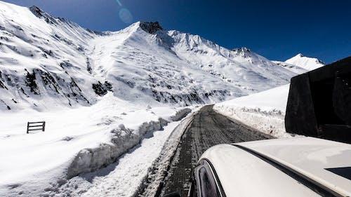 Free stock photo of heavy snow, india, road