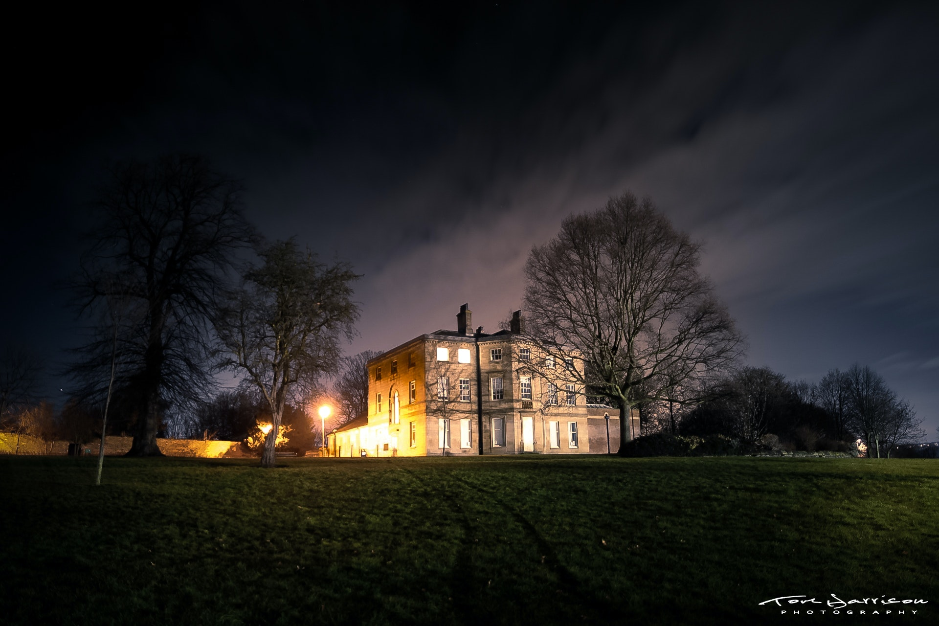 Free Stock Photo Of Night Lights, Night Sky, Country House, Night  Photography
