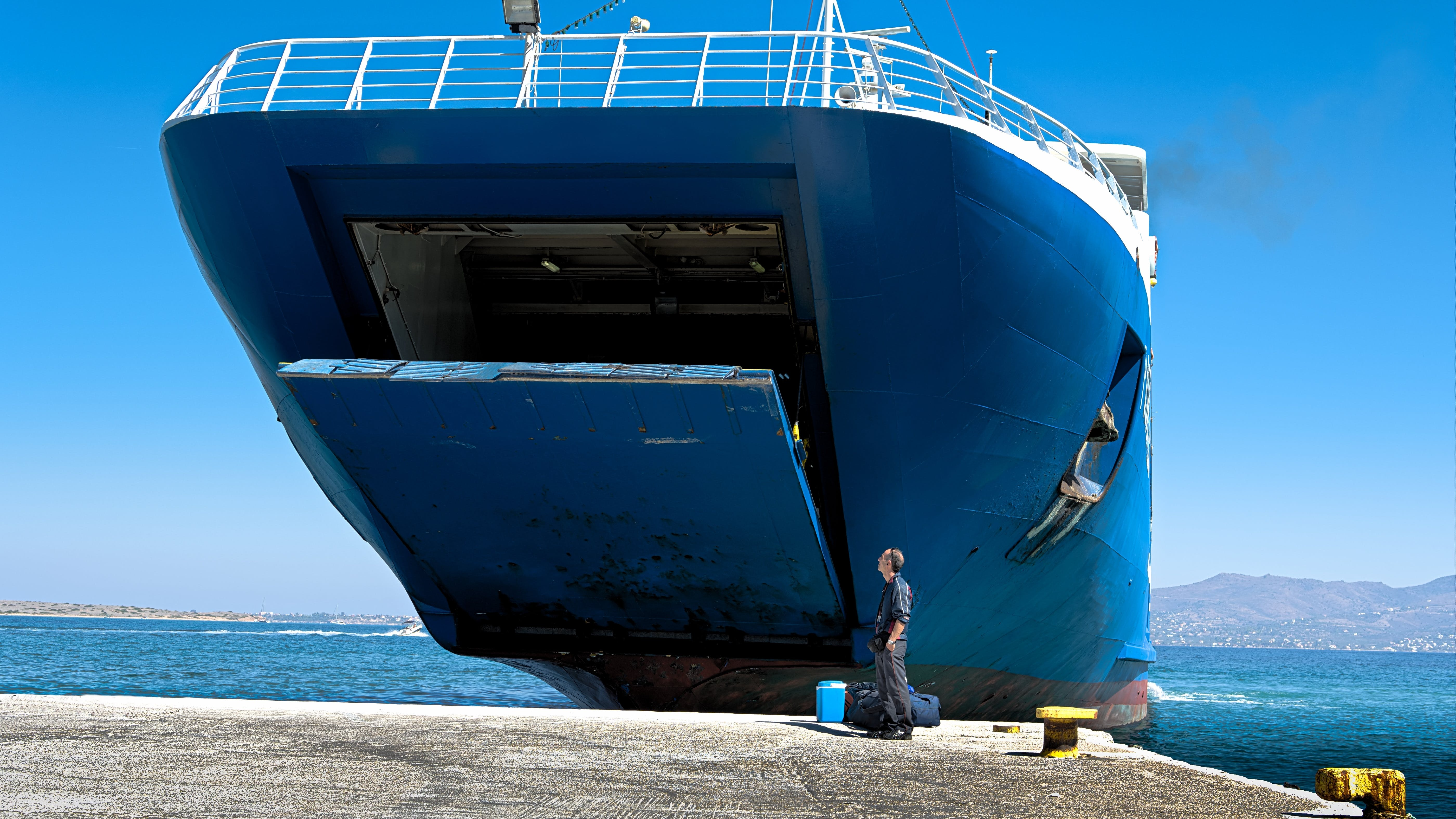 Free stock photo of abandoned, blue, boat, by the sea