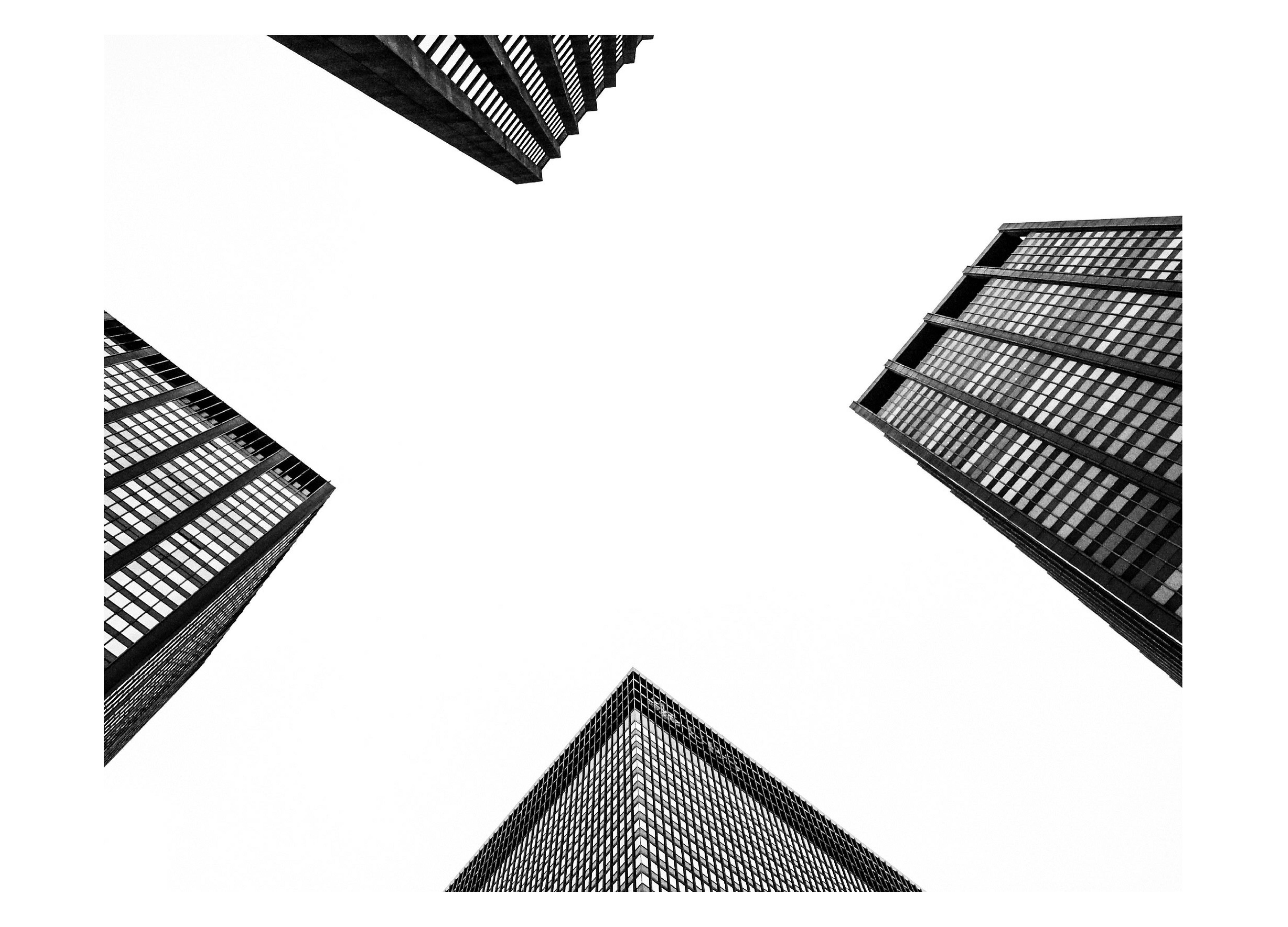 Line Art Photo Cs : Low angle photography of buildings · free stock photo