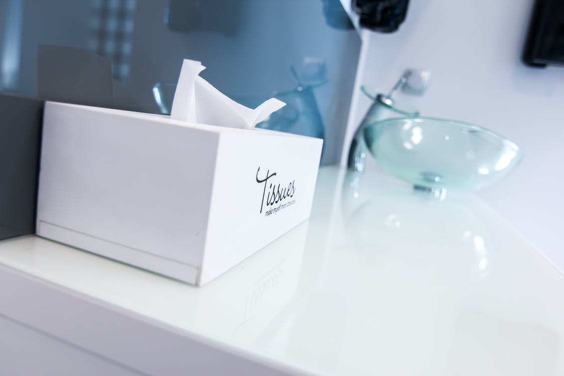 White Tissue Box