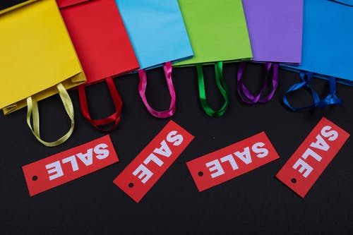 Colorful Paper Bags on Sale