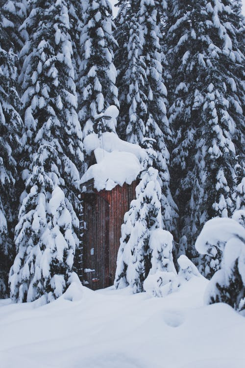 Free stock photo of building, contrast, deep snow, happiness