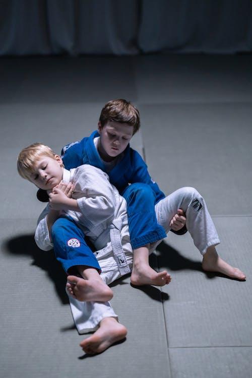 Young Boys Practicing Jujutsu