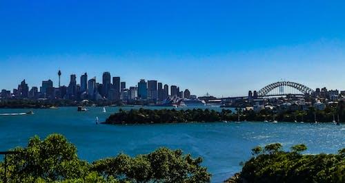 Kostenloses Stock Foto zu australien, blauer himmel, brücke, hafen