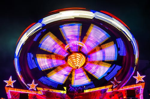 Free stock photo of colour, fun fair, motion, spinning