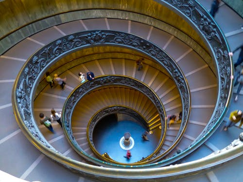 Free stock photo of geometric, pattern, spiral, spiral staircase