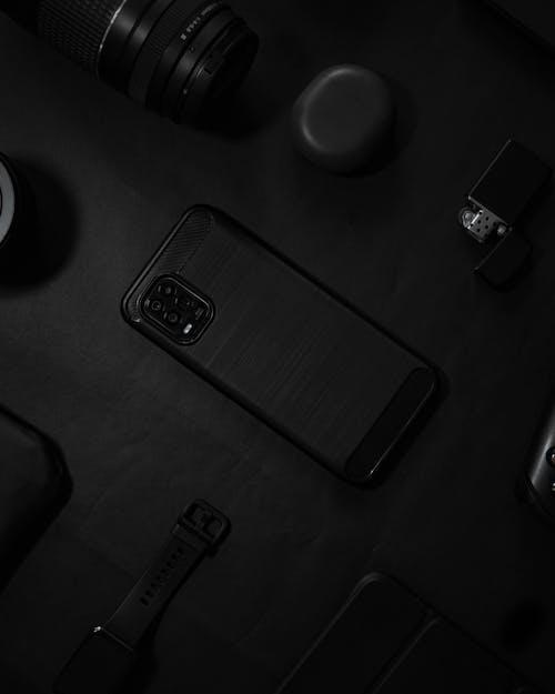 Black and Silver Camera Film
