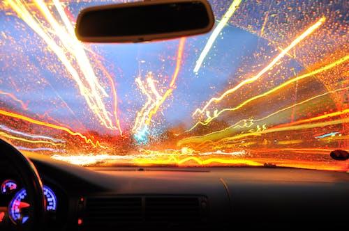 Gratis lagerfoto af bil, kørsel, lys, natdrev