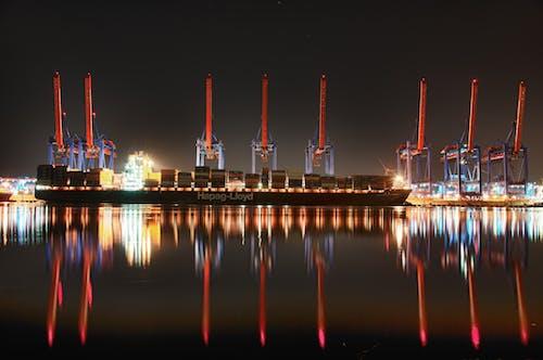 Gratis lagerfoto af aften, anløbsbro, badebro, benzin