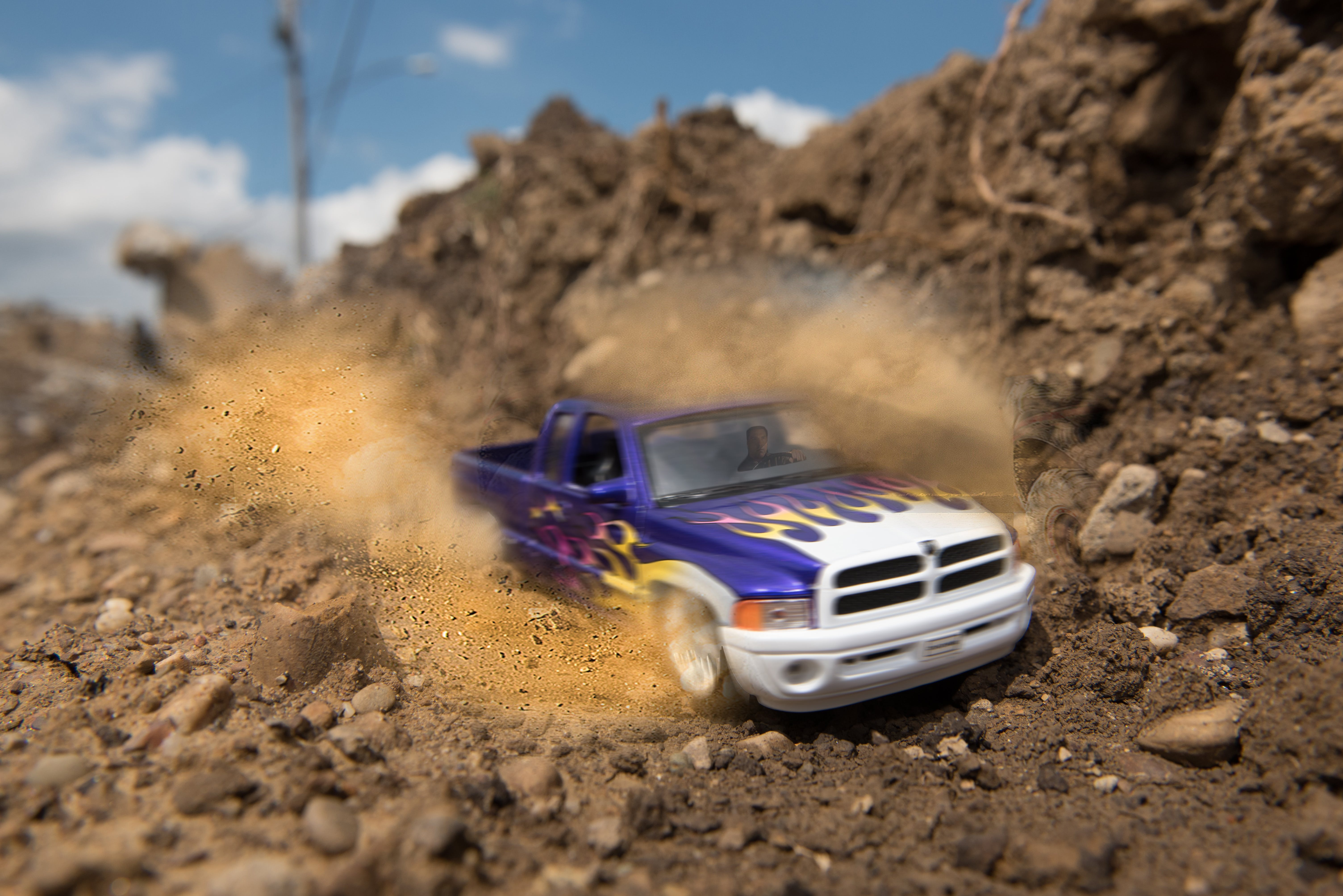 Free stock photo of dirt, dodge ram, mud, peeling out