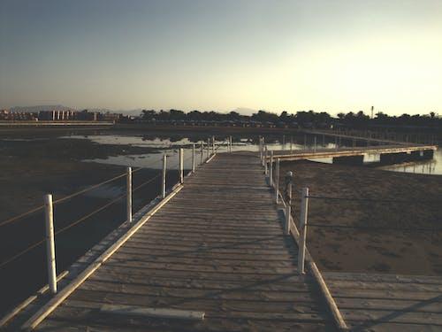 围栏, 埃及, 木質走道, 沙灘 的 免费素材照片