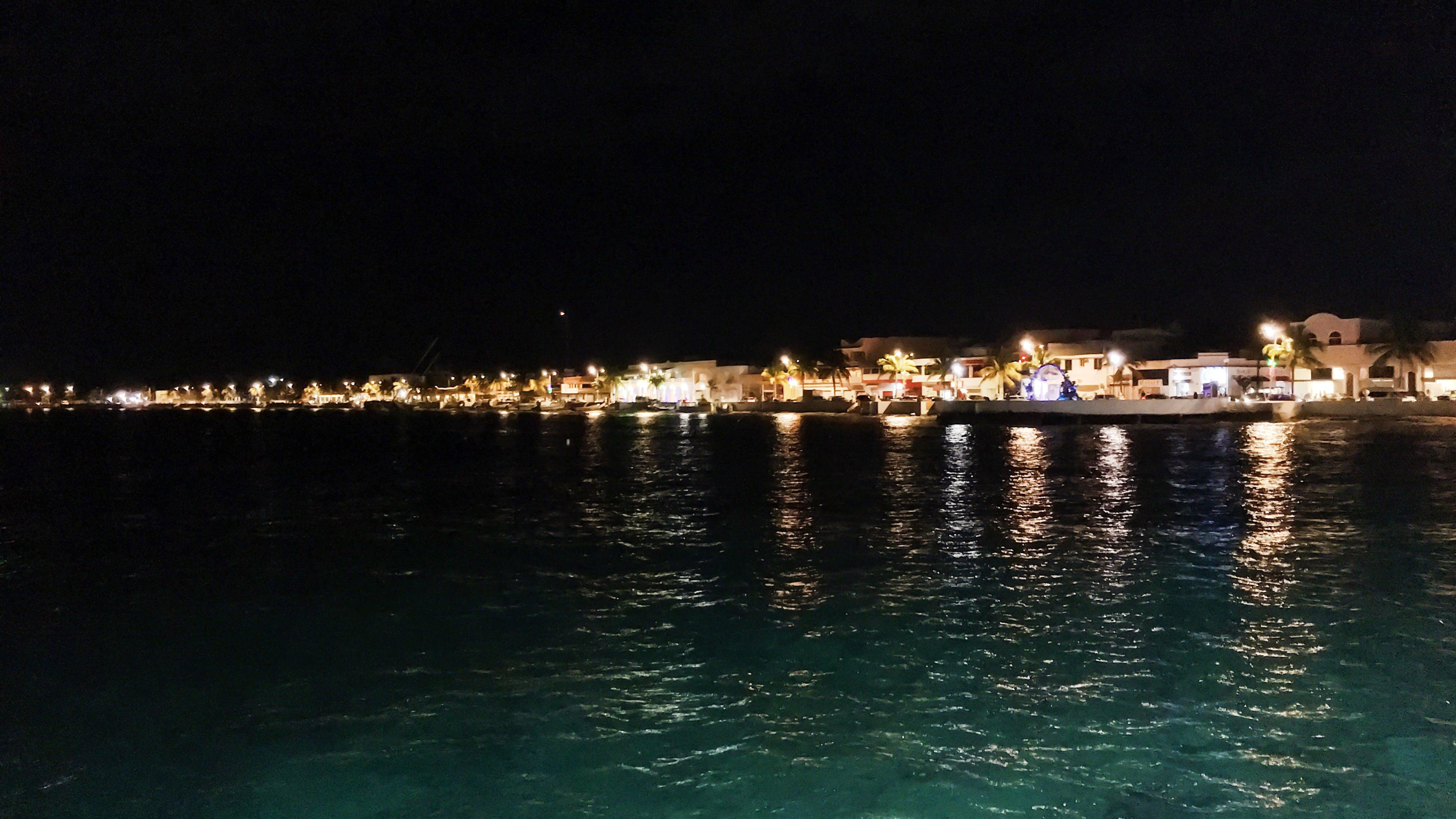 Free stock photo of citylights, night, sea