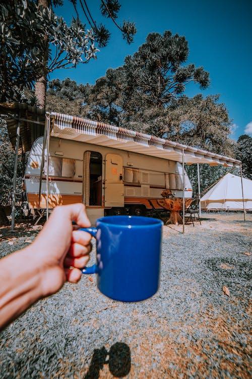 カップ, キャンピング, キャンプ, コーヒーの無料の写真素材