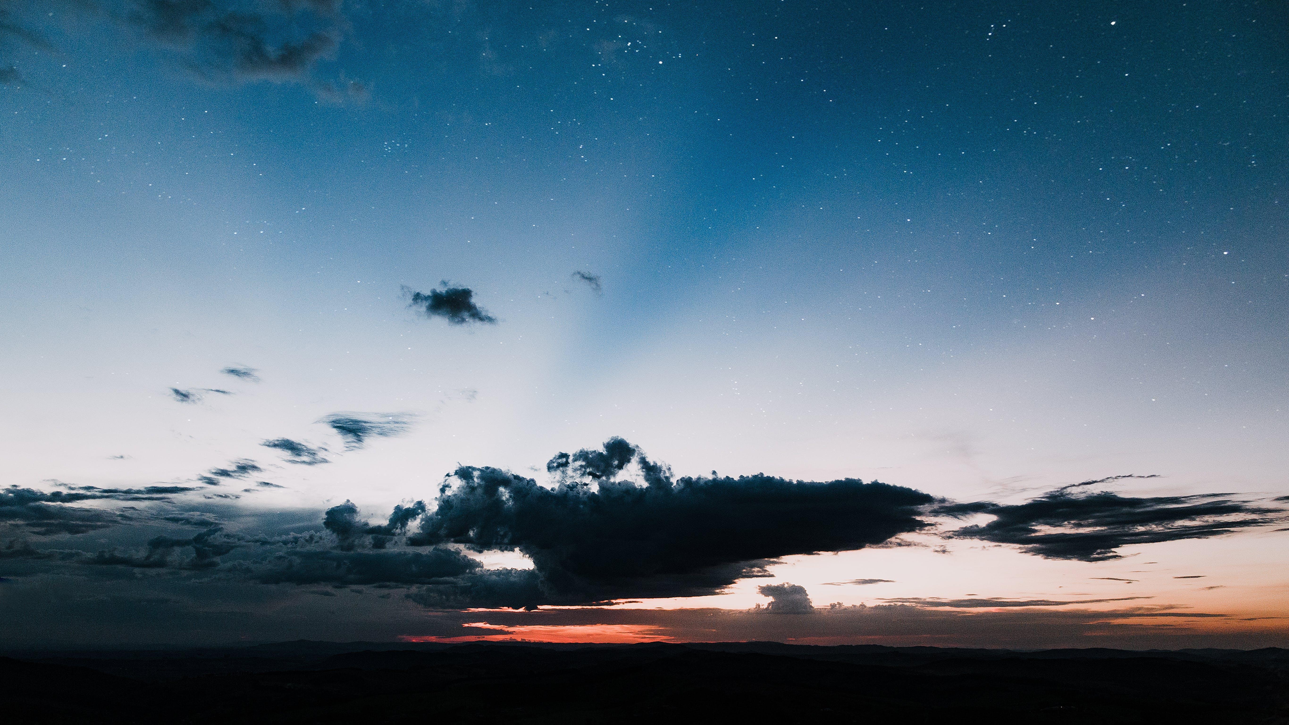 cloudscape, のどか, 夜明け, 山岳の無料の写真素材