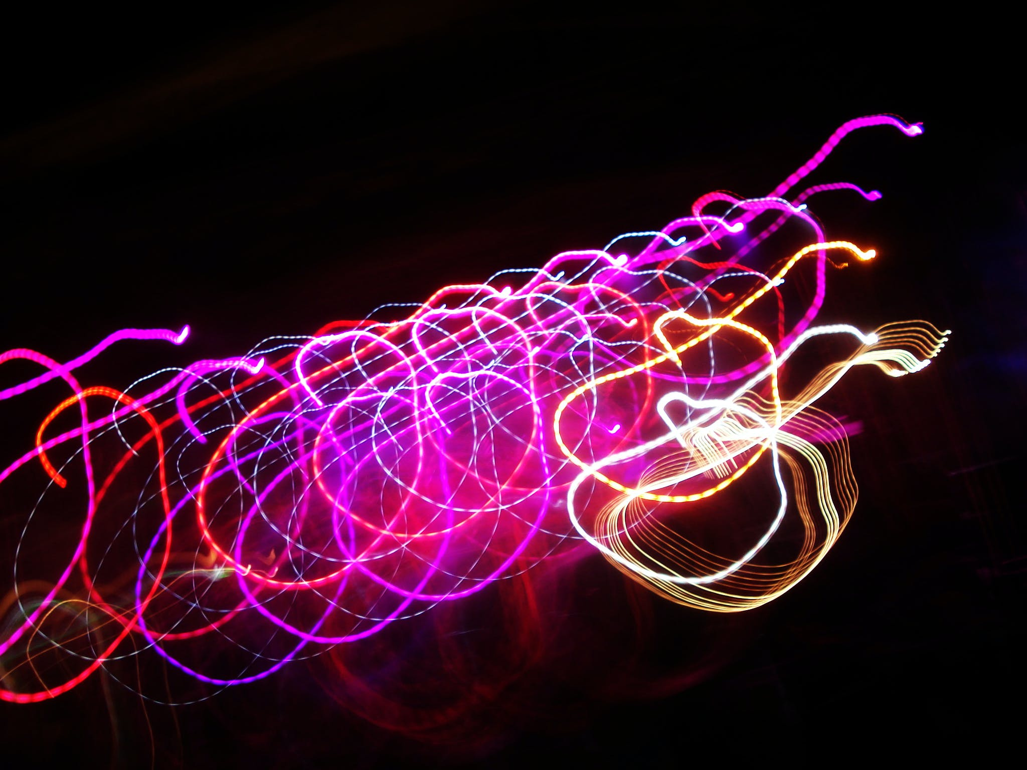 Free stock photo of lights, night, pink